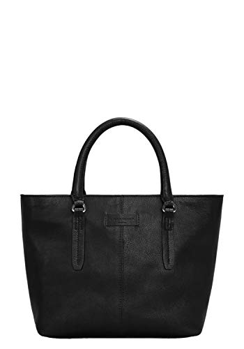 Liebeskind Berlin Damen Essential Satchel Medium Henkeltasche, Schwarz (Black) 11x25x27 cm