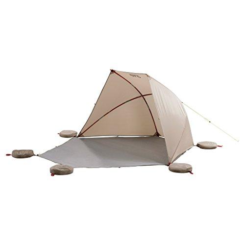 Jack Wolfskin Vario Beach Shelter verstellbares Dach UV-Schutz Strandmuschel, Sahara, ONE Size