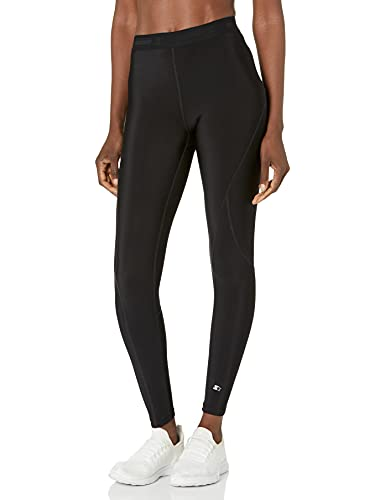 """Starter Women's 27"""" Therma-Star Brushed Compression Leggings, Amazon Exclusive, Black, XL"""