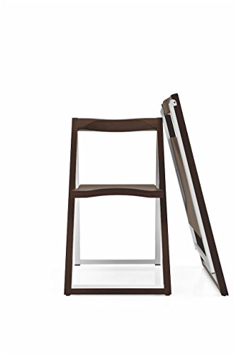 Connubia Skip Folding Chair Frame Plywood Wenge Beech Seat
