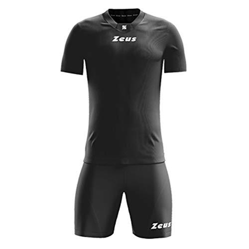 ZEUS Kit Promo Blu Completino Completo Calcio Calcetto Torneo Scuola Sport (XXL, Nero)