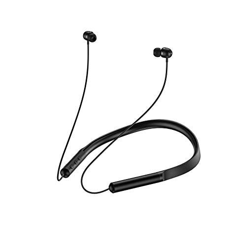boxiangxu Cuello colgante de doble cara bluetooth auricular 5.0 reducción de ruido físico estéreo sonido envolvente auriculares deportivos