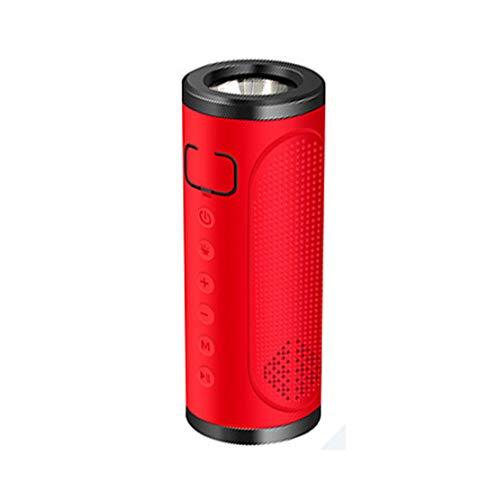 HIOD Bocina Bluetooth Multifunción Al Aire Libre Portátil Impermeable Altavoz Inalámbrico Micrófono Incorporado/Radio FM, Iluminación, Carga del Teléfono,Red