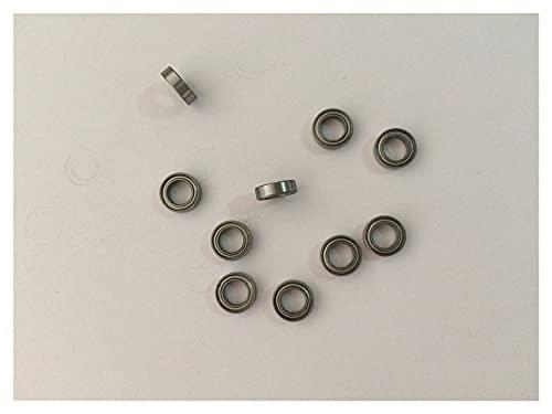 DHJZSL 10pcs Modello in Miniatura Cuscinetto Metallico Cuscinetti a Sfera schermata in Miniatura, Palla Cuscinetto (Diameter : MR115ZZ 5x11x4mm)