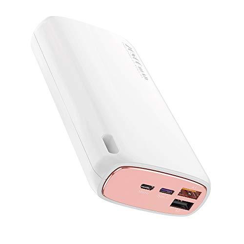 TreeLeaff Power Bank 20000mAh Cargador portátil compacto QC3.0+PD3.0 Batería de carga rápida Batería externa de alta capacidad compatible con iPhone 11 Pro iPad, Samsung y más