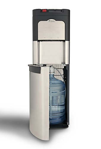 Whirlpool Bottom Loading Commercial Water Cooler with Ice Chilled and Steaming Hot Water in Stainless Steel