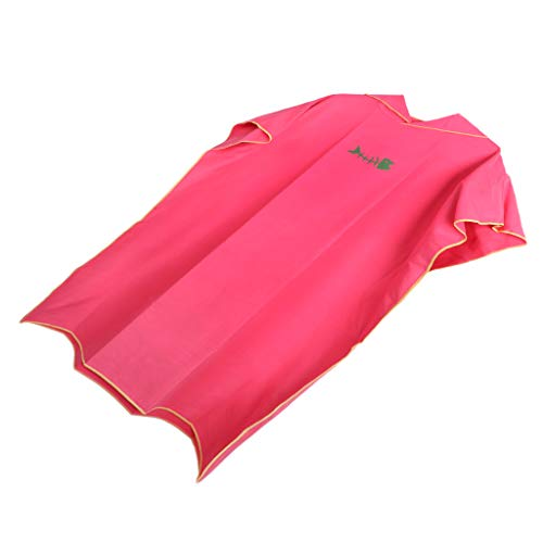 B Baosity Toalla de Poncho Surf con Capucha para Adultos Mujeres Hombre, Traje de Playa de Microfibra Bañador para Baño de Natación Ropa Piscina - Rojo