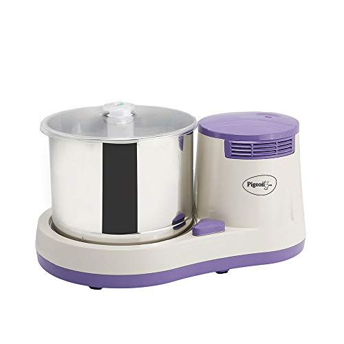 Pigeon by Stovekraft Lavio 2 Litre Table Top Wet Grinder with 2 Stones and Coconut Scrapper and Atta...