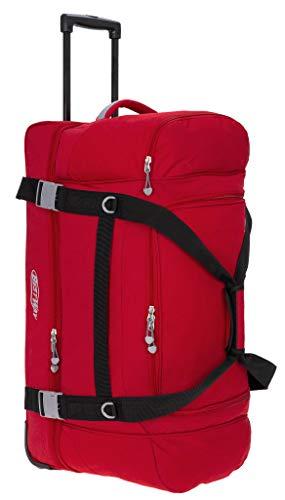 Reisetasche Trolley Bestway 78 cm XXL Reisetrolley groß mit Rollen 40267 + Koffergurt (Rot (0300))