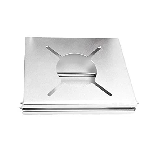 ZSDFW Mini mesa de estufa de un solo quemador de acero inoxidable plegable para estufa de camping al aire libre, senderismo, estufas de viaje ligeras, gris plateado