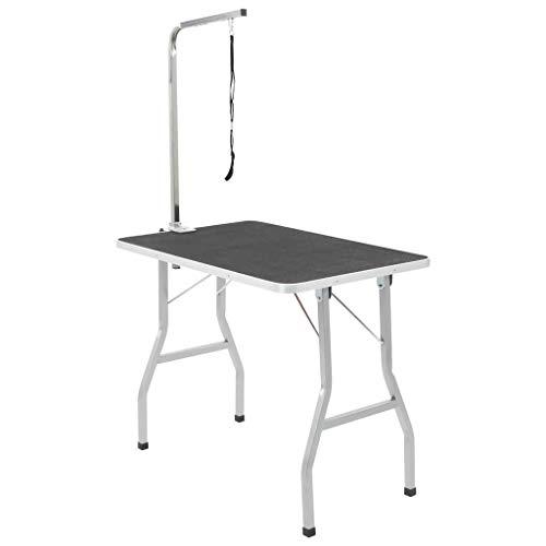 vidaXL Table Toilettage Ajustable pour Chiens avec 1 Potence