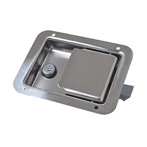 XINXIN LakerBig Cierre de Paleta de Acero Inoxidable con Llaves para el tráiler camión Herramienta Caja de la Puerta de la Puerta de Bloqueo automático Accesorios de reemplazo (Color : 2pcs)