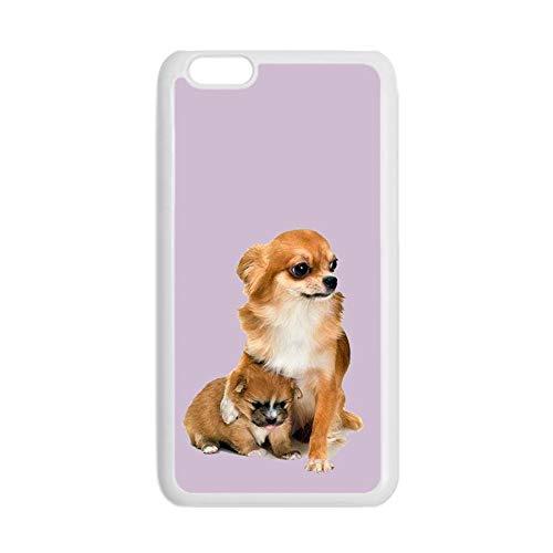 Creatividad Compatible con iPhone 7 P/ 8 P 5.5Inch Impresión Chihuahua 2 Niña Caso Duro Pc Choose Design 134-5