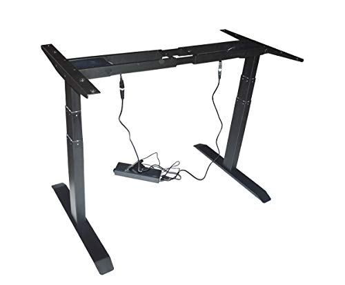 Great Deal! TECHTONGDA 110-240V Electric Dual Motor Adjustable Base Height Sit-Stand Standing Desk F...