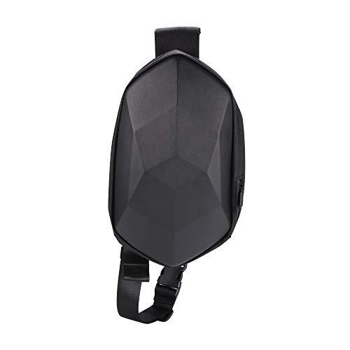 TTAototech, borsa a tracolla piccola da equitazione, zaino antifurto per il petto da viaggio, borsa a tracolla, per scooter elettrico (nero)