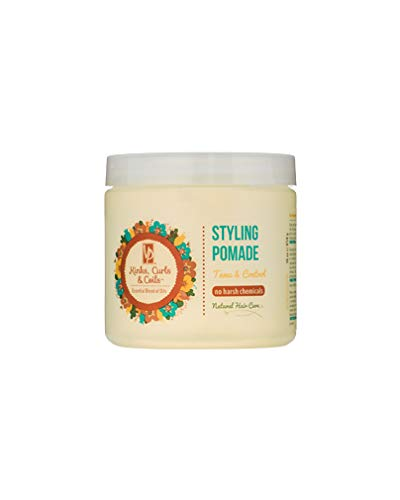 Kinks Curls and Coils Styling Pomade, 16 fl oz - Ideal for Edges, Twists, Braids, Sculpting & Free-Styling - Tame & Control Hair - Essential Blend of Oils - No Harsh Chemicals - Salon Exclusive