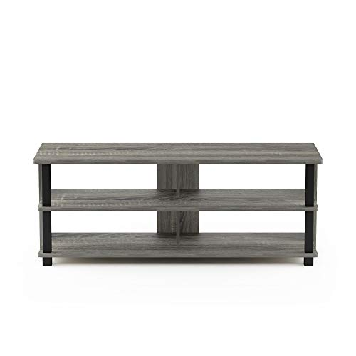Furinno Sully 3Tier Stand for TV up to 50 French Oak Grey/Black