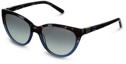 DKNY 0DY4095 zonnebril blauw transparant met grijze glazen 54 mm