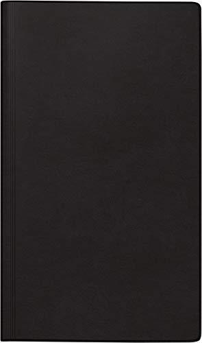 rido/idé 7025013901 Tageskalender/Buchkalender 2021 Modell reise-merker, Balacron-Einband schwarz