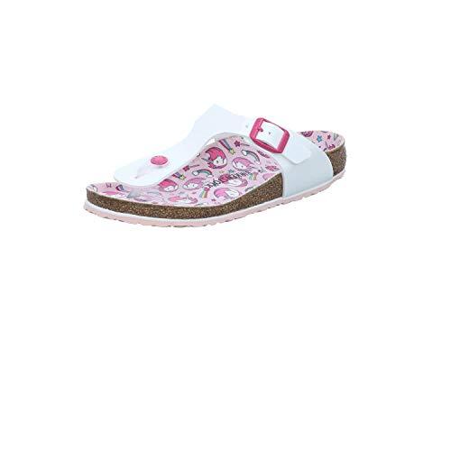 BIRKENSTOCK Gizeh Kids 1018846 - Cartoncino bianco 'Unicor', colore: Bianco, (Brevetto White Unicorn), 31 EU