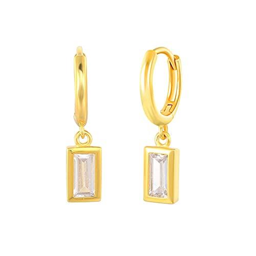Pendientes colgantes con colgante de estrella y luna de circonita arcoíris de Plata de Ley 925 para mujer, pendientes de gota de estrella de mar de lujo