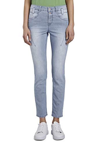 TOM TAILOR Damen Jeanshosen Tapered Relaxed Jeans Clean Mid Stone Blue Denim,30/32