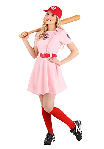 Women's A League of Their Own Embroidered Dottie Costume Set Small