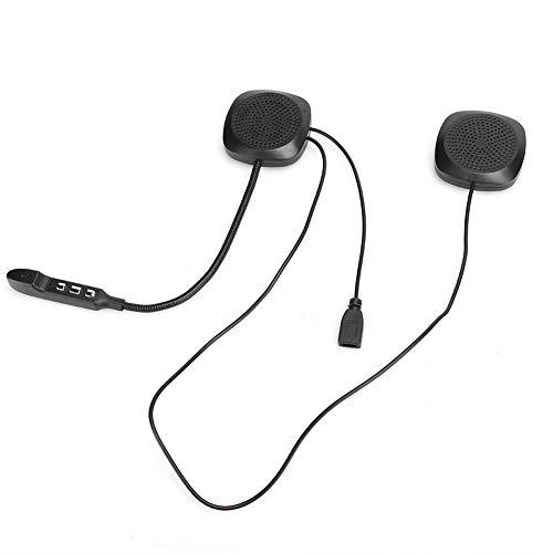 Bluetooth 5.0 Auriculares para Casco de Motocicleta Auriculares estéreo para Llamadas Manos Libres con Fundas de Esponja