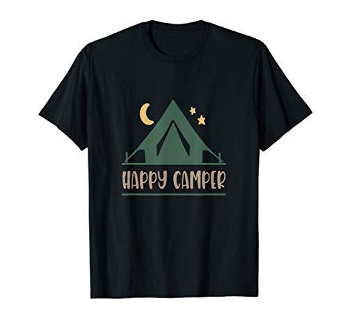 Happy Camper Camping Geschenk Sommer Camp Zelt T-Shirt