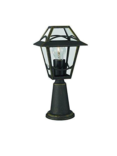 Philips Luminaire extérieur Babylon borne/potelet noir et or 1x60W 230V