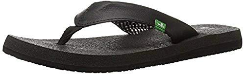 Sanuk Women's Yoga Mat Sandals Ebony 9 & Oxy Shoe Cleaner Bundle