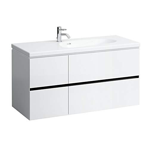 Laufen Palomba Waschtischunterschrank für Waschtisch 814806, ohne Steckdose,4 Schubladen, 575x1185x495, Farbe: Kirsche Vermont dunkel