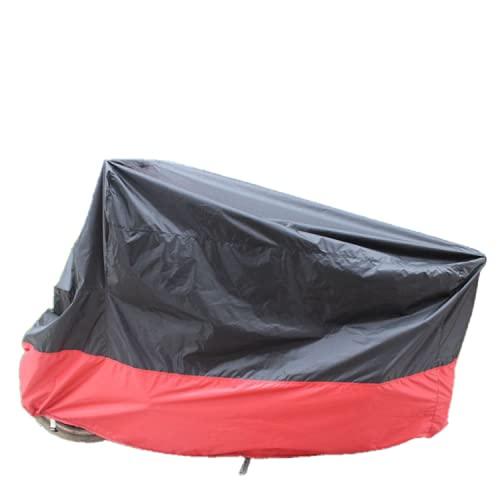 Funda para Motocicleta, Motocicleta ciclomotor Scooter Cubierta Completa Respirable Polvo al Aire Libre Lluvia Protector Cubierta-Black Red  XXL