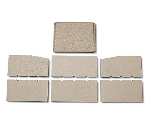 Feuerraumauskleidung für Fireplace Solferino Kaminöfen - Vermiculite - 7-teilig