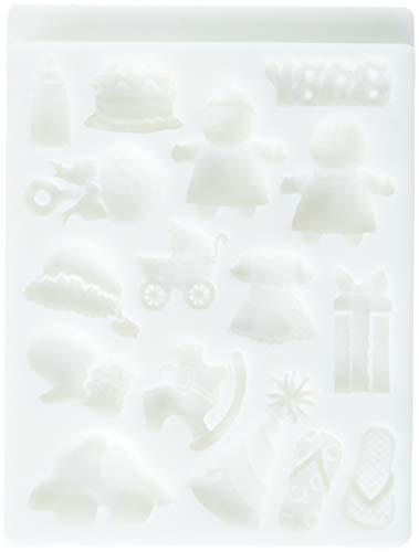 Städter Deko-Flex Model Baby, Silikon, Weiß, 15 x 20 x 2 cm