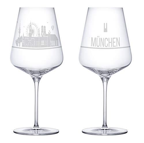 I LOVE München Weingläser 2er Set |...