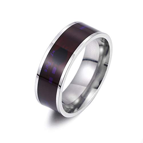 Odetina NFC oura Ring Smart Ring Wearable Technology Unisex Phone Smart Accessories Heartbeat Rings for Couples (Silvery10)