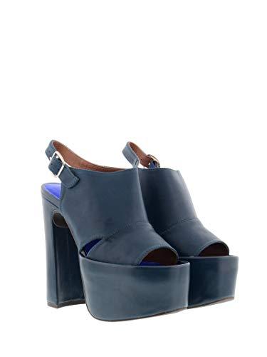 Jeffrey Campbell Sandales Beane - Beane 2 Leather Tan - Taille - Bleu - pétrole, 39 EU EU