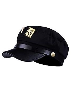 JoJo s Bizarre Adventure Hat Jotaro Kujou Cosplay Cap Army Military Cap Black