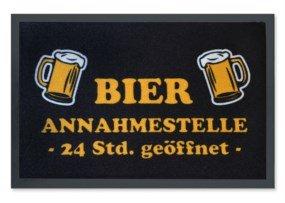 Pfiffig-Wohnen Die grappige deurmat - 24 uur bier aannameplaats