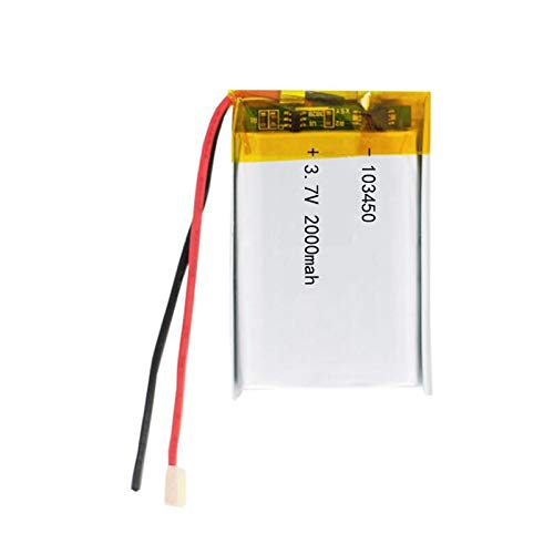 QianHaoQJu XW-Battery, 2 Stück 3,7V 2000mAh 103450 Lipo Lithium-Polymer-Akku for GPS-Navigator MP5 GPS Bluetooth Lautsprecher Headset E-Book-Kamera (Size : 2pcs)