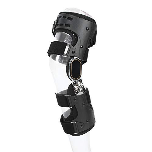 Soporte para rodillera, bisagra para descargar osteoartritis ROM ajustable rodillera estabilizadora, férula para articulación de la rodilla ajustable Artritis en varo valgo Rodillera ortopédica(Right)