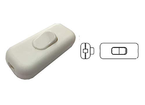 Botón unipolar interruptor de perilla terminal blanco 230 V 2 A ABAT JOUR