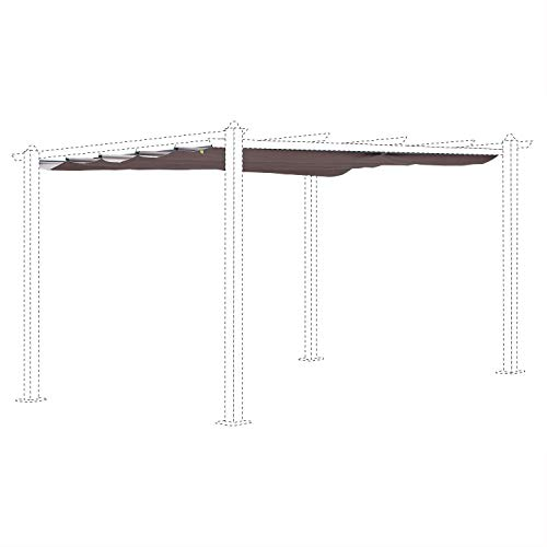 Alice's Garden Beige-Brown canopy roof for 3x4m Condate gazebo - pergola replacement canopy, replacement canopy