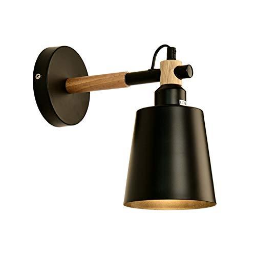 YXLMAONY Lámpara de pared de iluminación de interior de la cabeza individual, dormitorio moderno sala de estar de pared de pared lámpara decorativa, lámpara de lectura de noche, cuerpo de lámpara de m