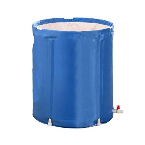 Zhangjie Portable Plastic Bathtub, Foldable Soaking Bathing Tub For Freestanding Shower Stall, Inflatable SPA Tub Bathing Tub For Adult Bathroom Foldable Tub Adult Size Large Size