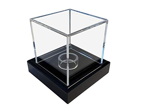 LL-Golf Pequeño Universal acrílico Vitrina 6 x 6 x 6 cm/Showcase/Display Case/Vitrina con Terciopelo Negro por Ejemplo para Joyas, Figuras, Modelos, Minerales, Piedras, Medalla, Moneda