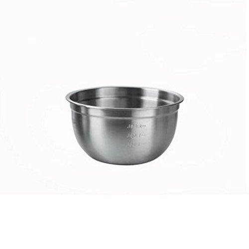 Bassin de soupe MXJ61 Bassin en Acier Inoxydable 304 Rond Profondeur Combat Plus épais L'assaisonnement Pot Pot de Mets (Taille : 20cm)