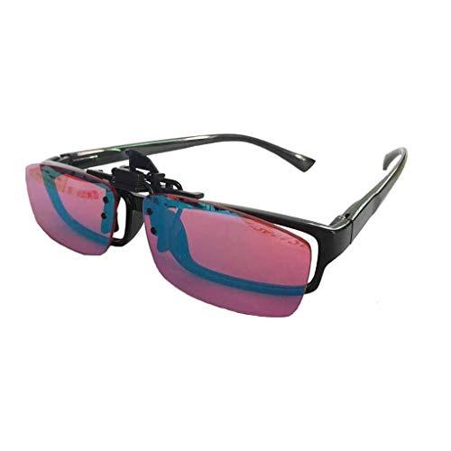 XYQ Farbenblind Brille ~ Color Blind Clip auf Gläser Silberbeschichtung Objektiv Sonnenbrillen Flip On, TP-21 for Rot Grün Farbenblindheit Mehr Gelegenheiten, 2020.03.06