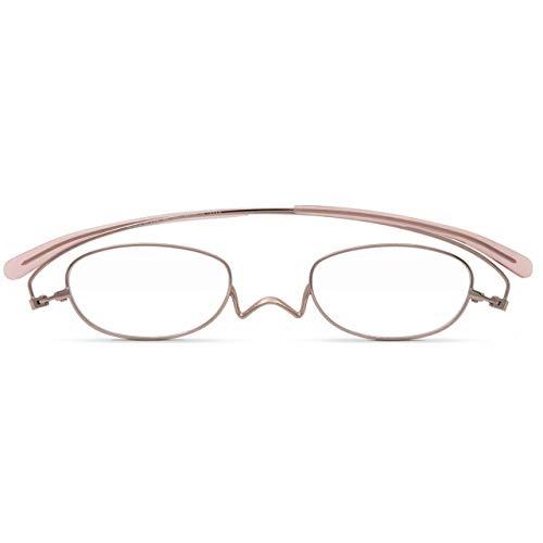 [薄型 老眼鏡 ?ペーパーグラス] NEWスタンダード Nスタ オーバル 201 フラットカラー(ピンク)(+2.0) 携帯用ケース付き 財布に入る老眼鏡 栞(しおり)型リーディンググラス メンズ レディース プレゼントギフト 鯖江製 1年間保証 201P